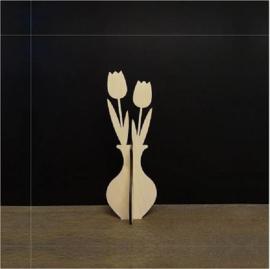 Bloemen van hout