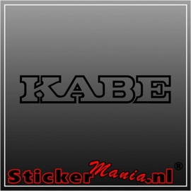 Kabe caravan sticker