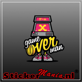 Game over man Full Colour sticker