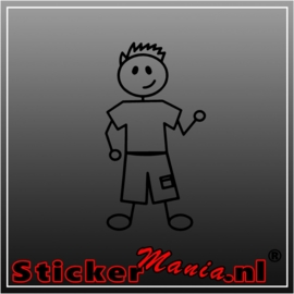 Sticky tiener jongen 1 sticker