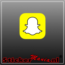 Snapchat logo full colour sticker