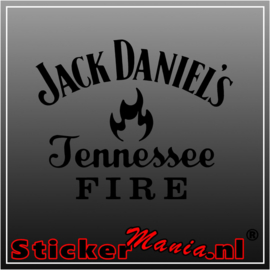 Jack daniels fire sticker