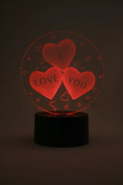 I love you  led lamp type 1