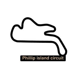 Phillip island circuit op voet