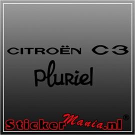 Citroën C3 pluriel sticker