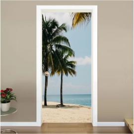 Palmbomen deur sticker