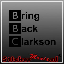 Bring Back Clarkson sticker