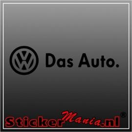 Volkswagen das auto sticker