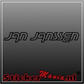 Jan Janssen sticker
