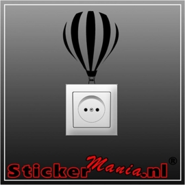 Heteluchtballon stopcontact sticker