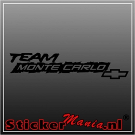 Chevrolet team monte carlo sticker