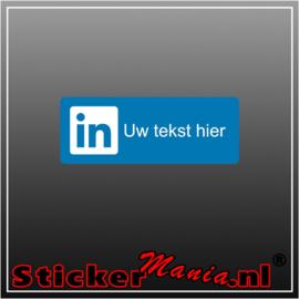 LinkedIn logo met eigen tekst