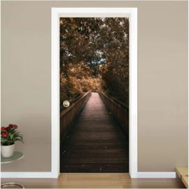 Brug herfst deur sticker