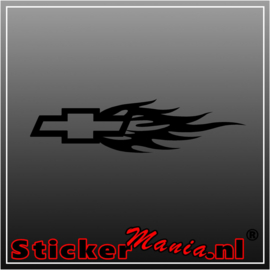 Chevrolet logo flame sticker