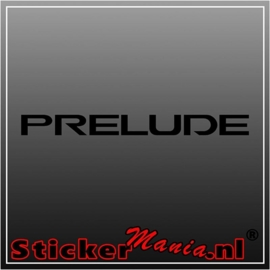 Honda prelude sticker