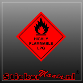 Highly flammable LPG full colour sticker