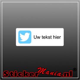 Twitter logo met eigen tekst