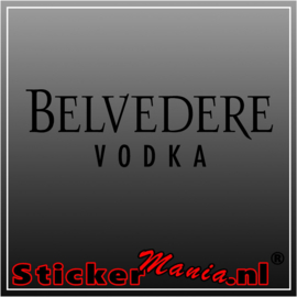 Belvedere vodka sticker