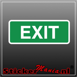Exit full colour sticker