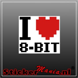 I love 8bit Full Colour sticker