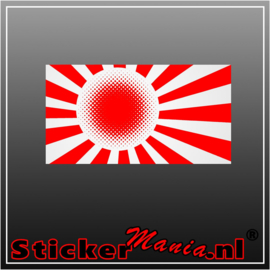 Japanse Vlag 1  Full Colour sticker