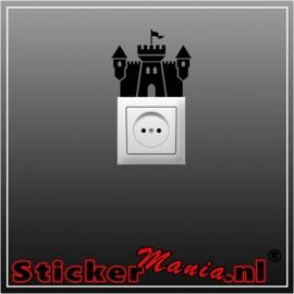 Kasteel stopcontact sticker