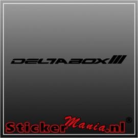 Yamaha deltabox III sticker