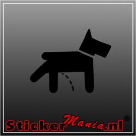 Dog peeing sticker