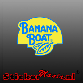 Banana boat full colour sticker