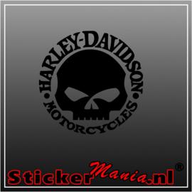 Harley Davidson skull 2 sticker