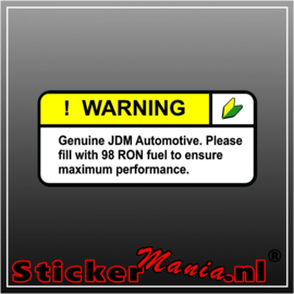Warning JDM Full Colour sticker