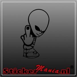 Alien fck u sticker