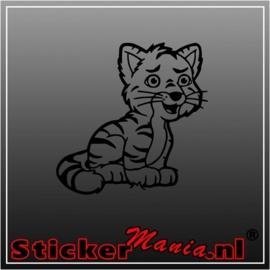 Baby tijger sticker