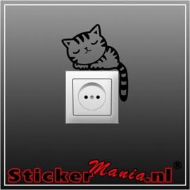 Kat stopcontact sticker