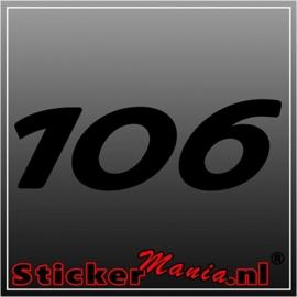 Peugeot 106 sticker