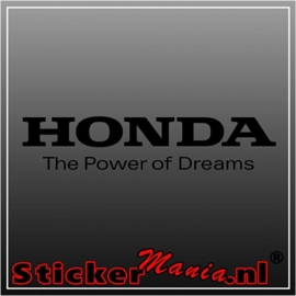 Honda the power of dreams sticker