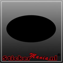 Ovale krijtbord sticker