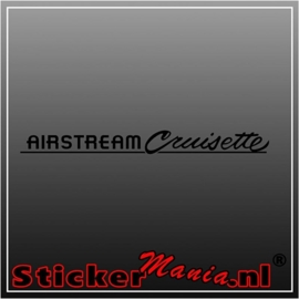 Airstream cruisette caravan sticker