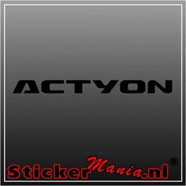Kia actyon sticker