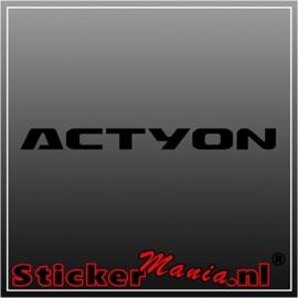 Kia actyon sticker