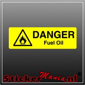 Danger fuel oil full colour sticker