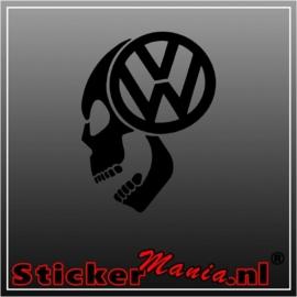 Volkswagen skull 1 sticker
