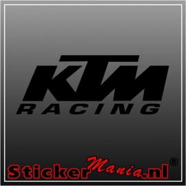 KTM racing sticker