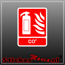 Co2 Brandblusser full colour sticker