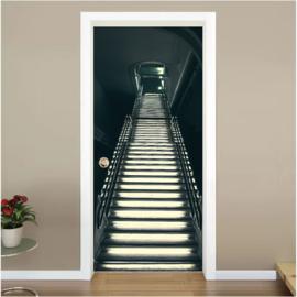 Verlichte trap deur sticker