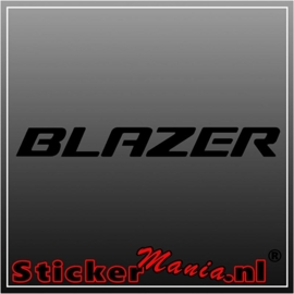 Chevrolet blazer sticker