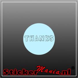 Thanks Sticker blauw