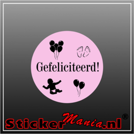 Gefeliciteerd voor meisje Sticker