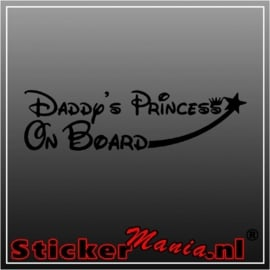 Daddy's princess om board sticker