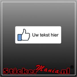 Facebook like met eigen tekst